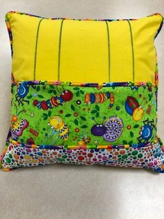 Corded Pillow with Pocket